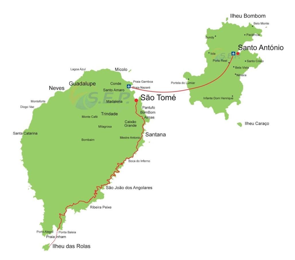Ces combinés permettent des vacances balnéaires sur l'archipel de Sao Tomé-et-Principe.